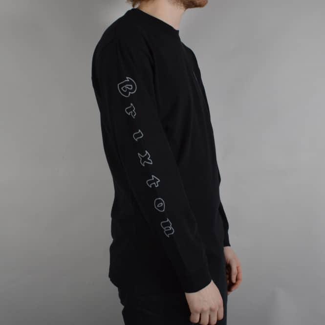 24b890bd5aa4 Brixton Primo Longsleeve T-Shirt - Black/Grey - SKATE CLOTHING from ...