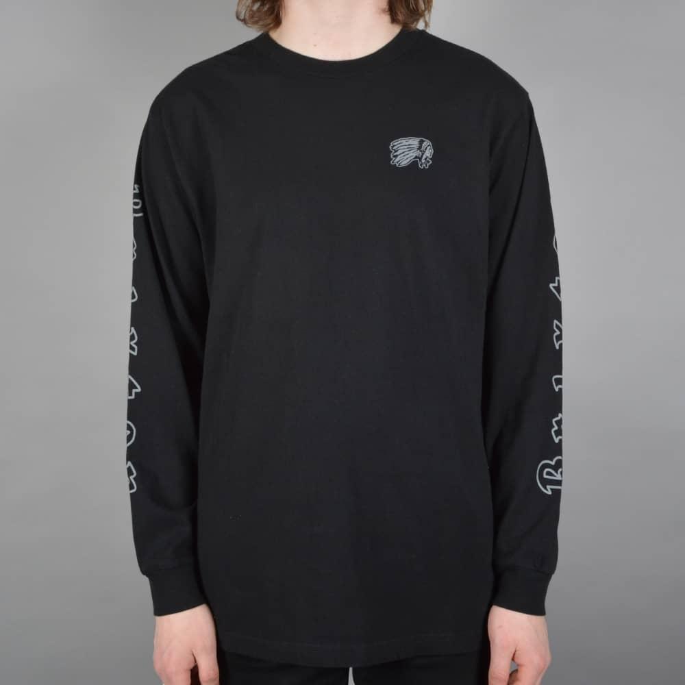 f626760ebc917 Brixton Primo Longsleeve T-Shirt - Black - SKATE CLOTHING from ...