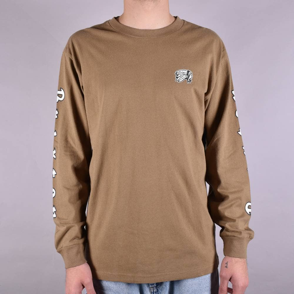90b4e0dcb8a2 Brixton Primo Longsleeve T-Shirt - Dusty Olive - SKATE CLOTHING from ...