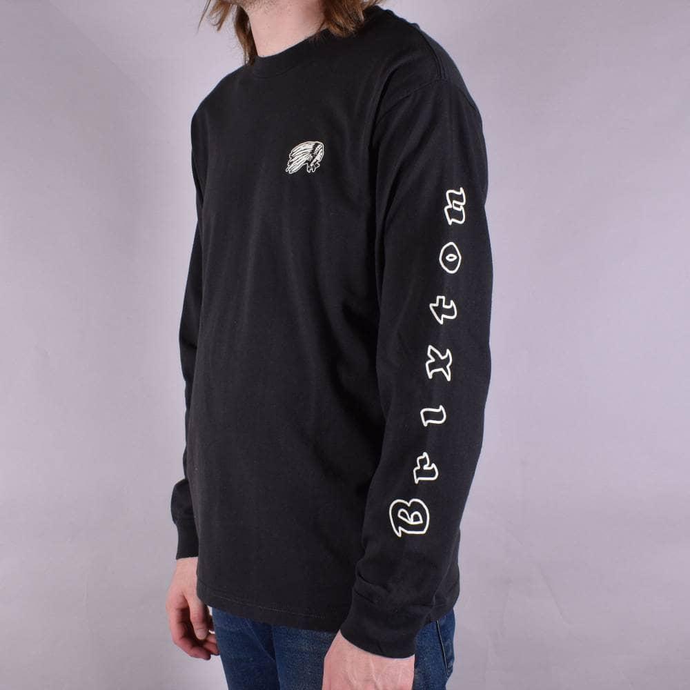 1262c818a370 Brixton Primo Longsleeve T-Shirt - Washed Black - SKATE CLOTHING ...
