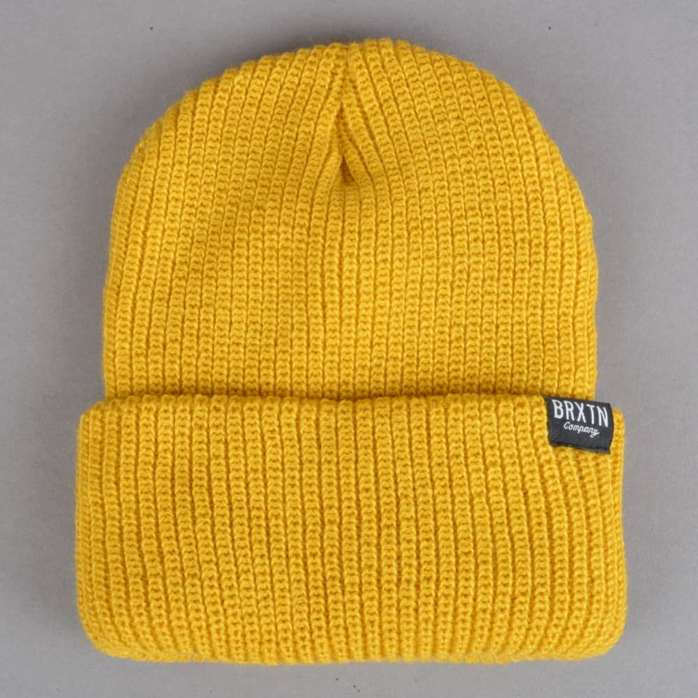 099b0c2524d Brixton Redmond Beanie - Mustard - SKATE CLOTHING from Native Skate ...