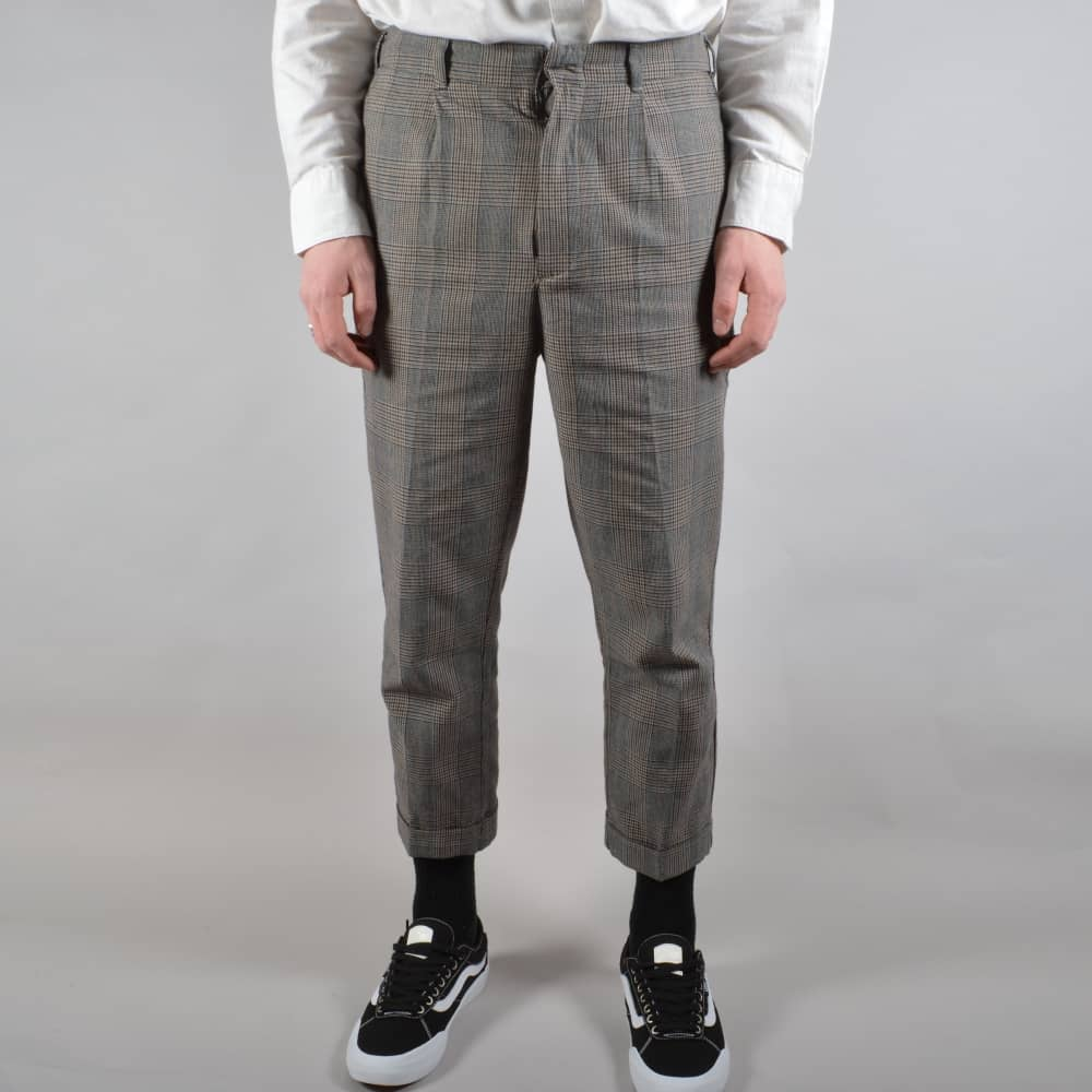 Brixton Regent Tapered Trouser - Grey Plaid - SKATE CLOTHING from ... 1050ed910dd