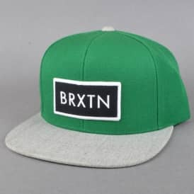 Brixton Rift Snapback Cap - Hunter/Heather Grey