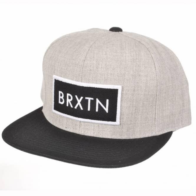 899721f66f8 Brixton Rift Snapback Cap - Light Grey Black - Caps from Native ...