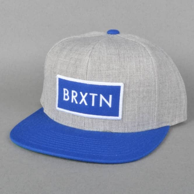 8e4f51527da Brixton Rift Snapback Cap - Light Heather Grey Royal - SKATE ...
