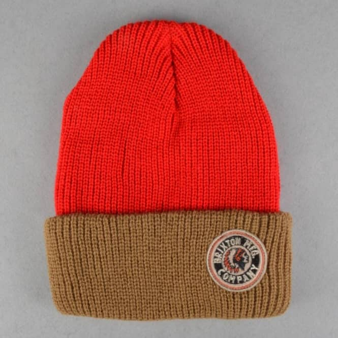 Brixton Rival Fold Up Beanie - Red