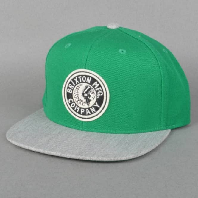 ce4847b4ab9be Brixton Rival Snapback Cap - Heather Grey Green - SKATE CLOTHING ...