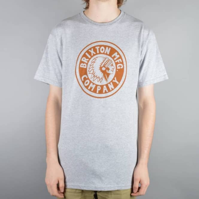 Brixton Rival T-Shirt - Heather Grey