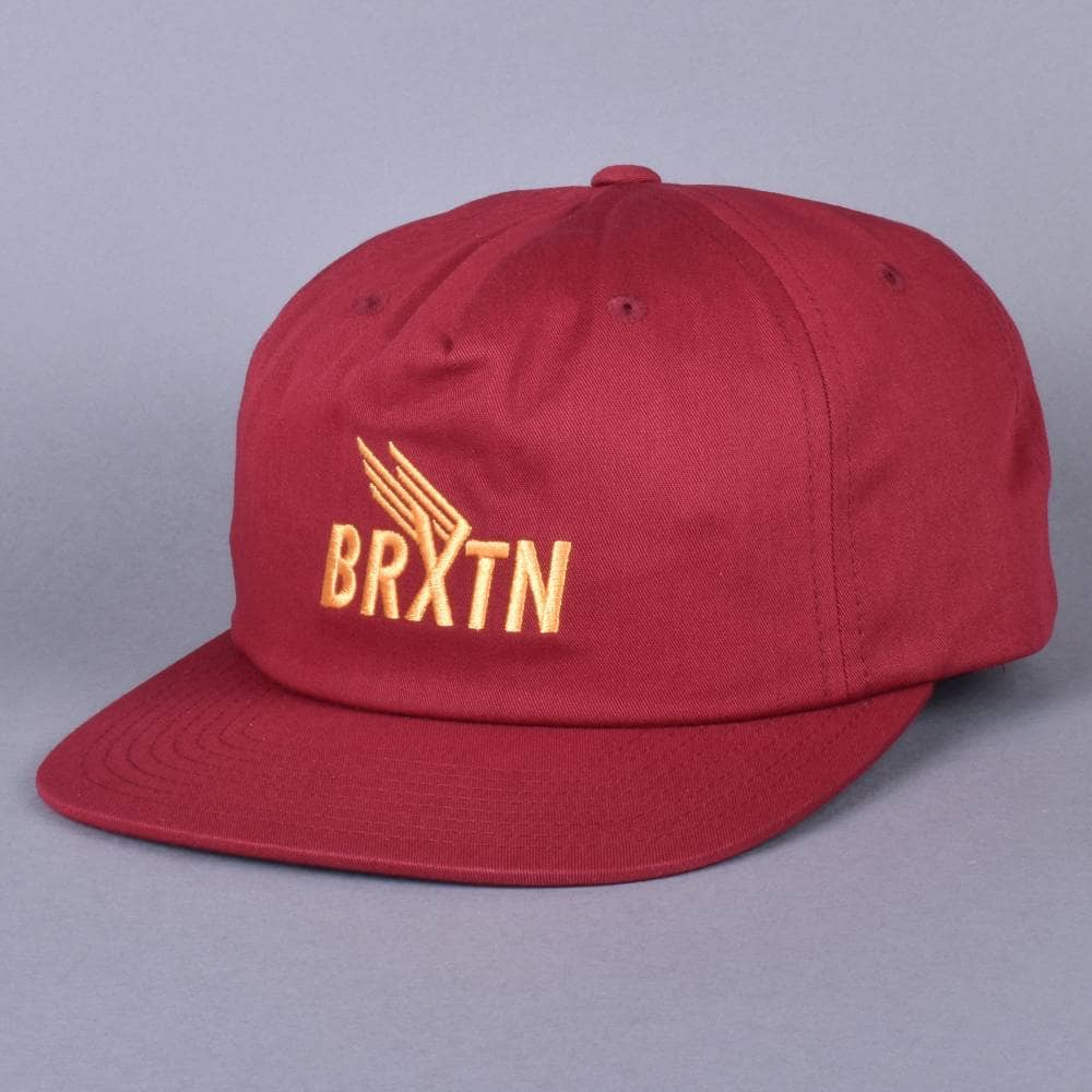 Brixton Rogers MP Strapback Cap - Burgundy - SKATE CLOTHING from ... 2129befaac4