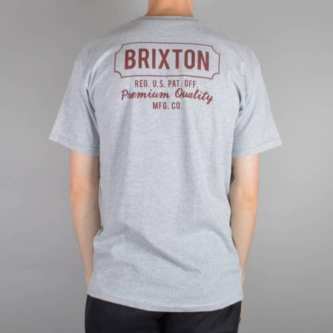 Brixton Russel T-Shirt - Heather Grey