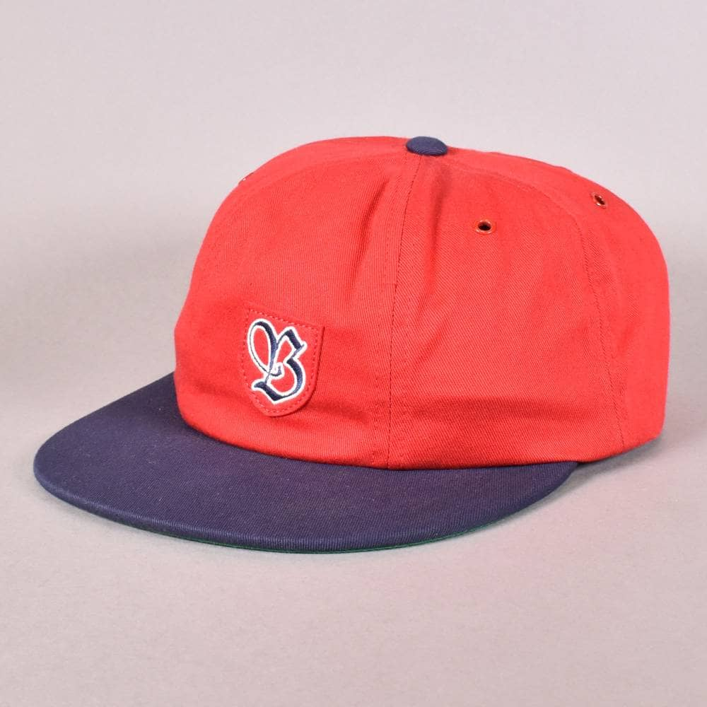 Brixton Snider Strapback Cap - Red Navy - SKATE CLOTHING from Native ... b233d60d6a2