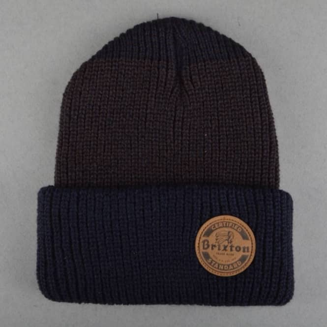 Brixton Soto Beanie - Navy/Brown