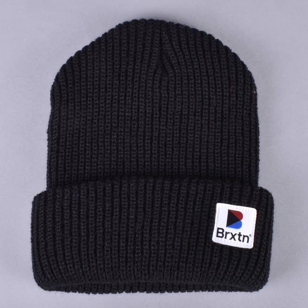 c3451a96123 Brixton Stowell Beanie - Black - SKATE CLOTHING from Native Skate ...