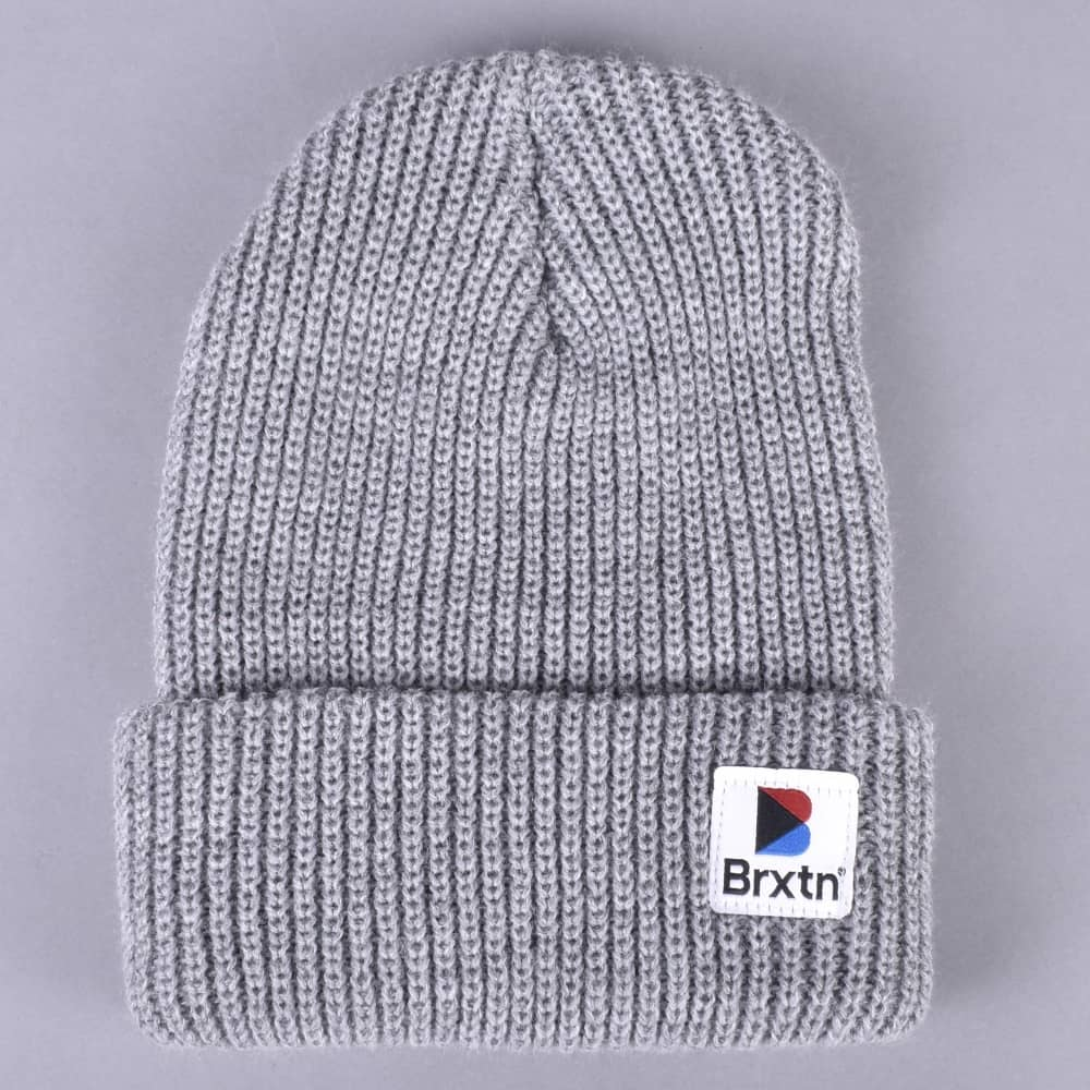 ec32823fb3259 Brixton Stowell Beanie - Light Heather Grey - SKATE CLOTHING from ...