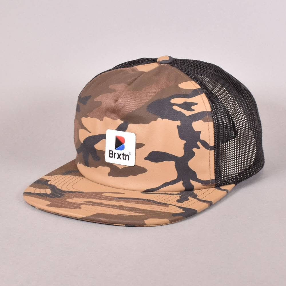 Brixton Stowell Mesh Snapback Cap - Camo - SKATE CLOTHING from ... 93979dc990c6