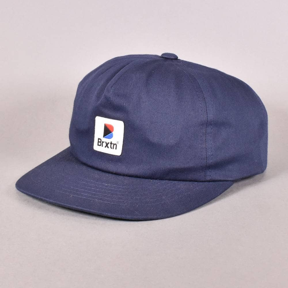 Brixton Stowell Strapback Cap - Navy - SKATE CLOTHING from Native ... 298e600c0ab8