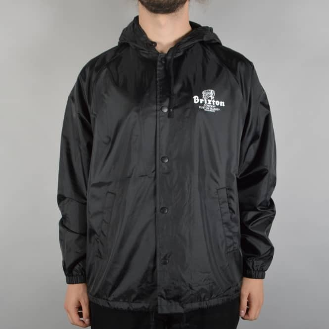 Brixton Tanka Hooded Windbreaker Jacket - Black