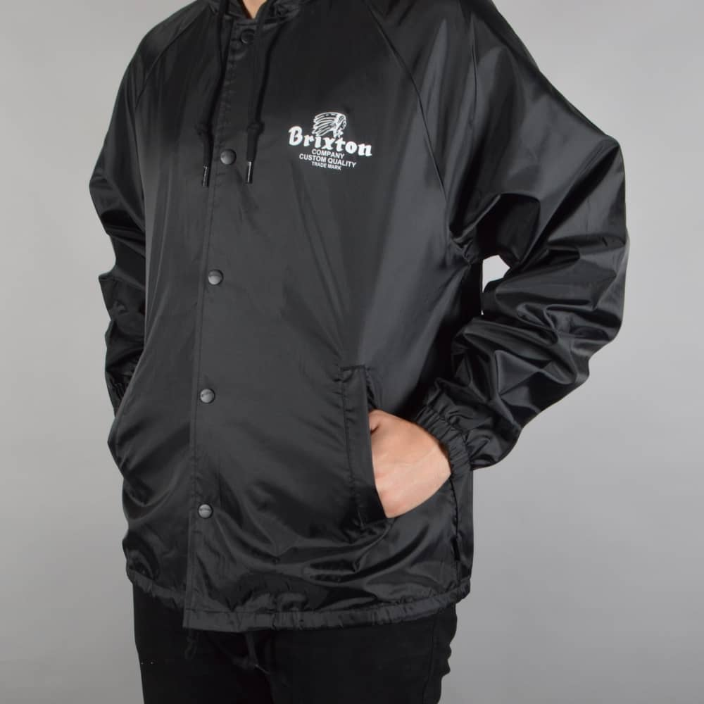 Brixton Tanka Hooded Windbreaker Jacket - Black - SKATE CLOTHING ... a6dc52d029f