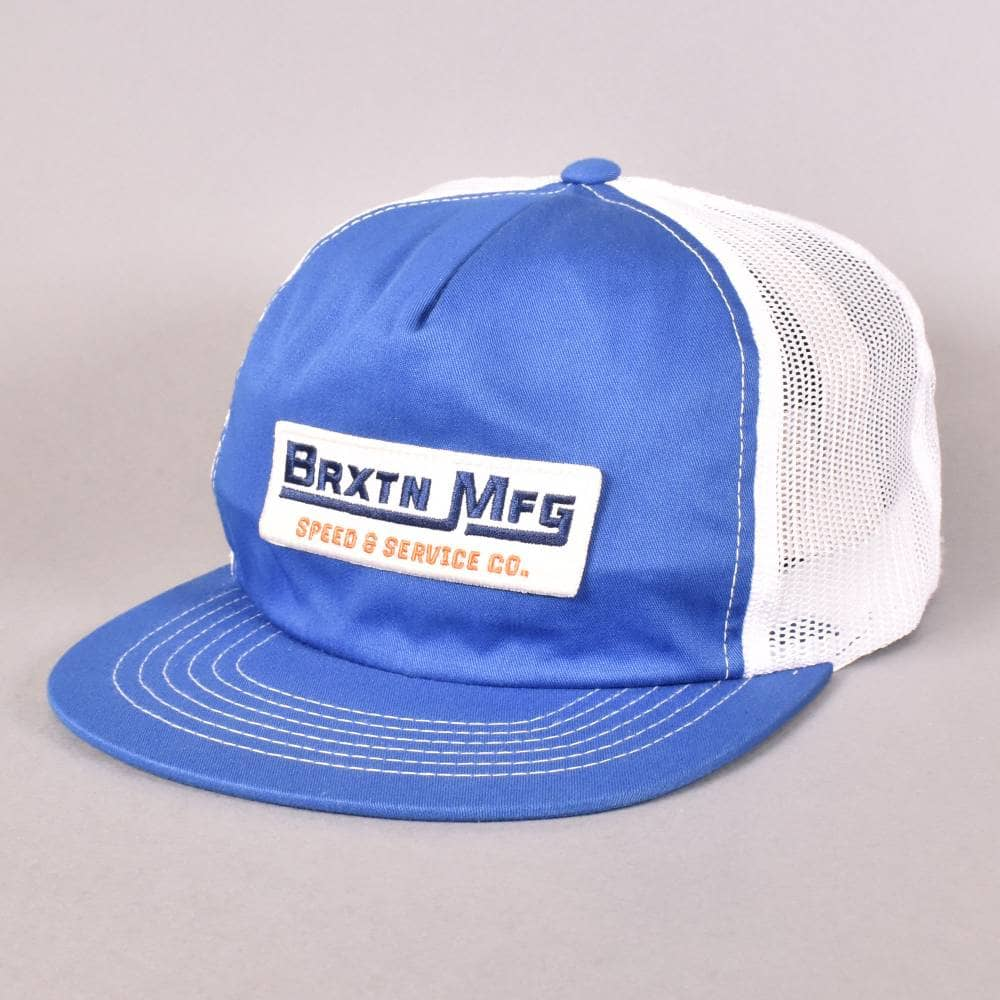 Brixton Traction Mesh Snapback Cap - Royal White - SKATE CLOTHING ... c6d63f339d4