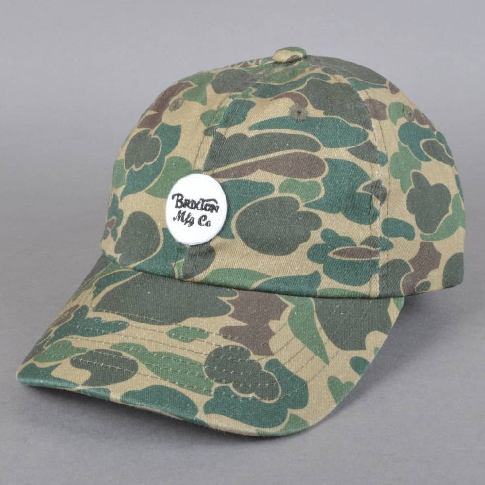 Brixton Wheeler Camo Cap - Olive Camo - SKATE CLOTHING from Native ... 603dcf2996a