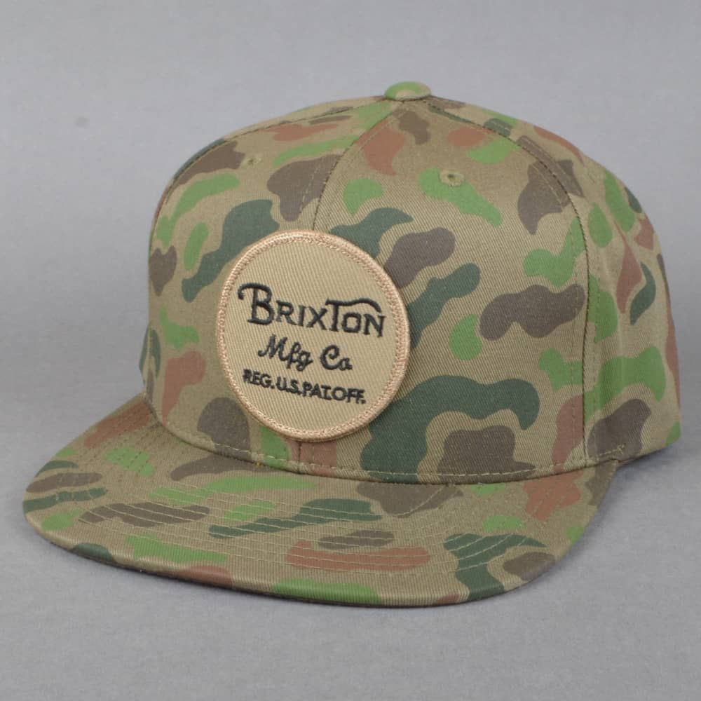 ef7e4fae3525f Brixton Wheeler Snapback Cap - Camo - SKATE CLOTHING from Native ...