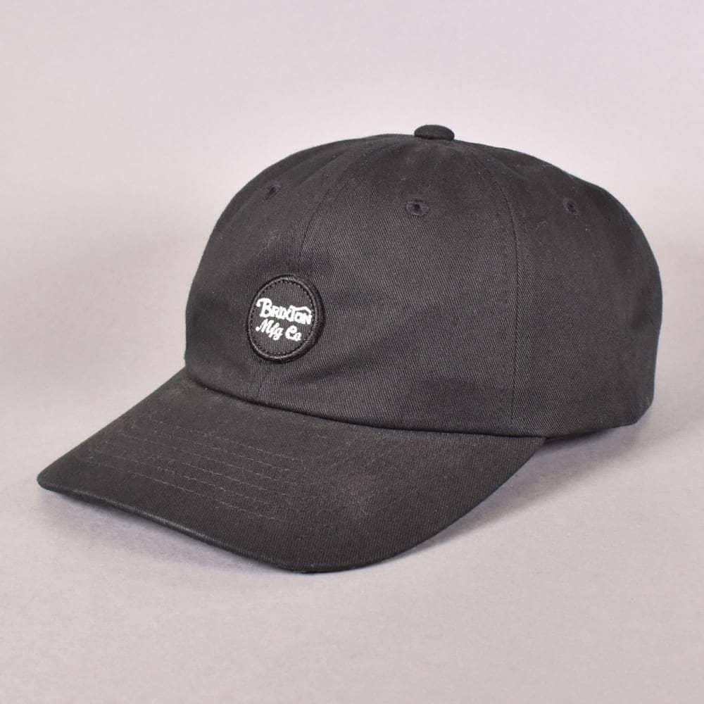 Brixton Wheeler Strapback Cap - Black - SKATE CLOTHING from Native ... cb42f26e6c7
