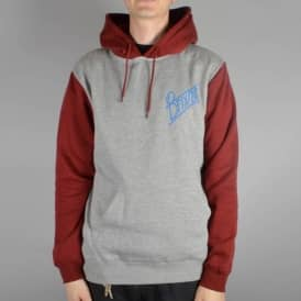 Wilson Pullover Hoodie - Heather Grey/Burgundy