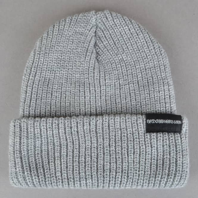 Brixton x Hard Luck MFG Prayer Beanie - Light Heather Grey