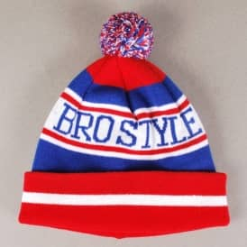 Bro Style Home Team Bobble Beanie - Red