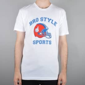 Bro Style Sports Skate T-Shirt - White