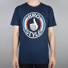 Patriot Stripe Logo Skate T-Shirt - Navy