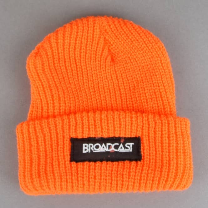 Broadcast Wheels Watchcap Beanie - Orange