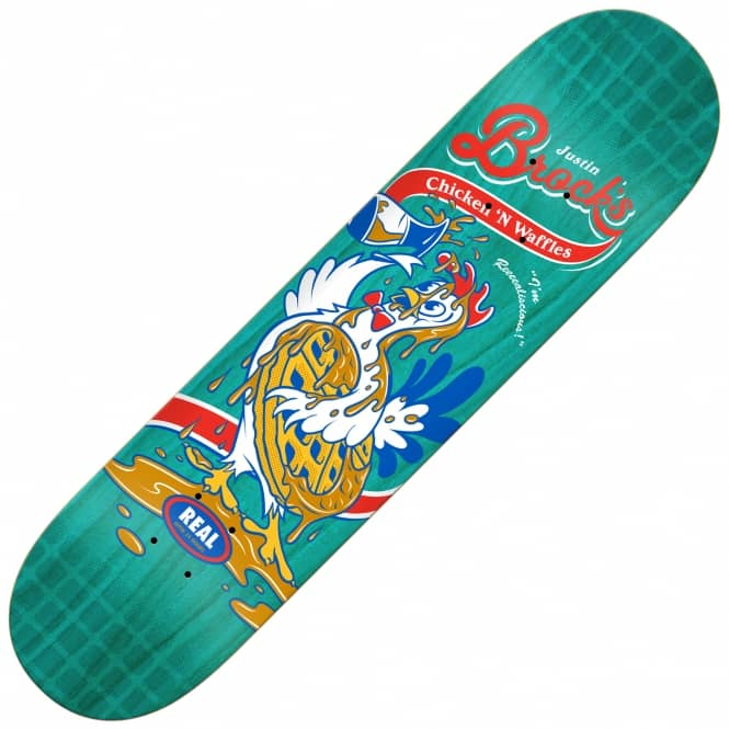 Real Skateboards Brock Chicken 'N Waffles (Full SE) Skateboard Deck 8.06