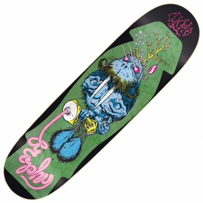 "Cliche Skateboards Brophy Walrus Skateboard Deck 8.625"" - Green Stain"