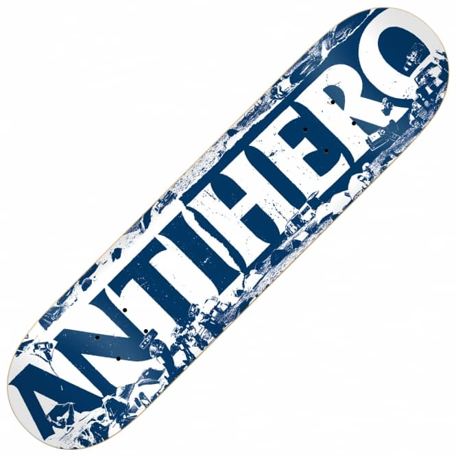 Antihero Skateboards Budget Cuts White Skateboard Deck 8.5