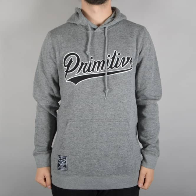 Primitive Apparel Built Stronger Pullover Hoodie - Grey Heather