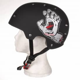Bullet Santa Cruz Screaming Hand Skate Helmet - Black