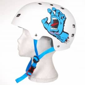 Bullet Santa Cruz Screaming Hand Skate Helmet - White