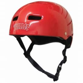 Bullet Skateboard Helmet Red