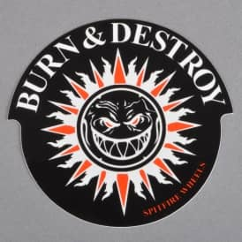Burn And Destroy Skateboard Sticker - 3.5