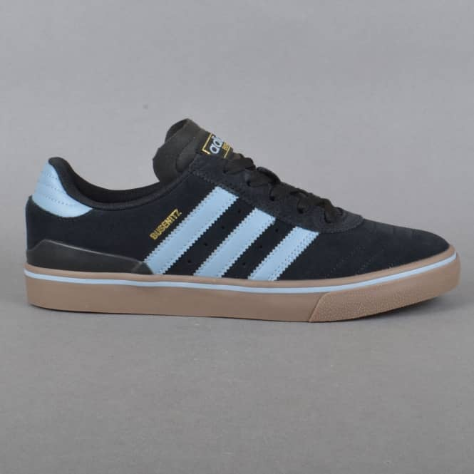 Adidas Skateboarding Busenitz Vulc ADV Skate Shoes - Core Black/Tactile Blue/Gum