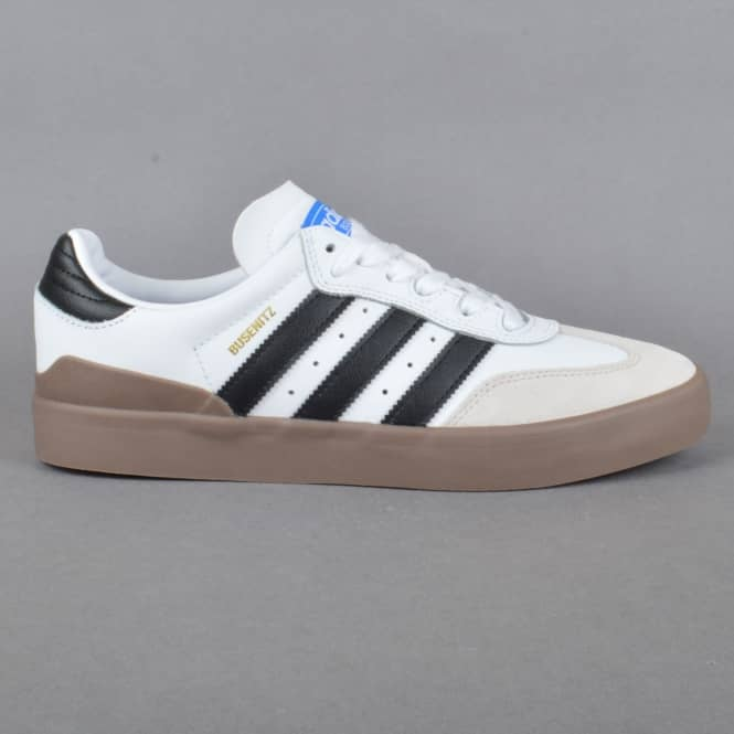 Adidas Skateboarding Busenitz Vulc Samba Edition Skate Shoes - Footwear White/Core Black/Bluebird