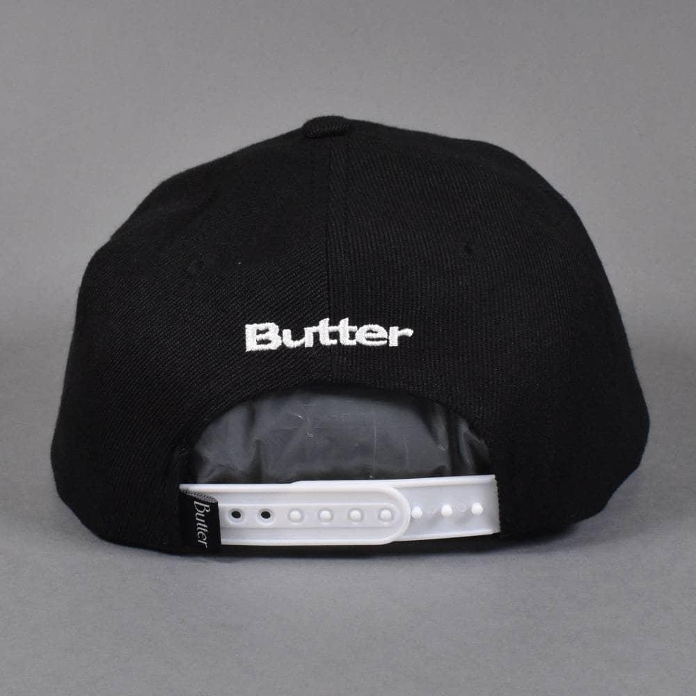 2acbdc590cc9f4 Butter Goods Bulldog Snapback Cap - Black - SKATE CLOTHING from ...