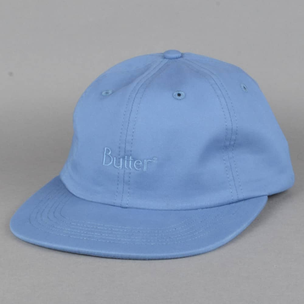 77114b1a987 Butter Goods Classic Logo 6 Panel Cap - Slate Blue - SKATE CLOTHING ...