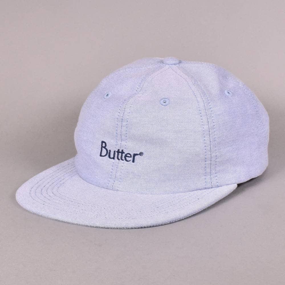 e4bc690898e Butter Goods Classic Logo Oxford 6 Panel Cap - Sky Blue - SKATE ...