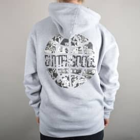 Collage Worldwide Logo Pullover Hoodie - Heather Grey