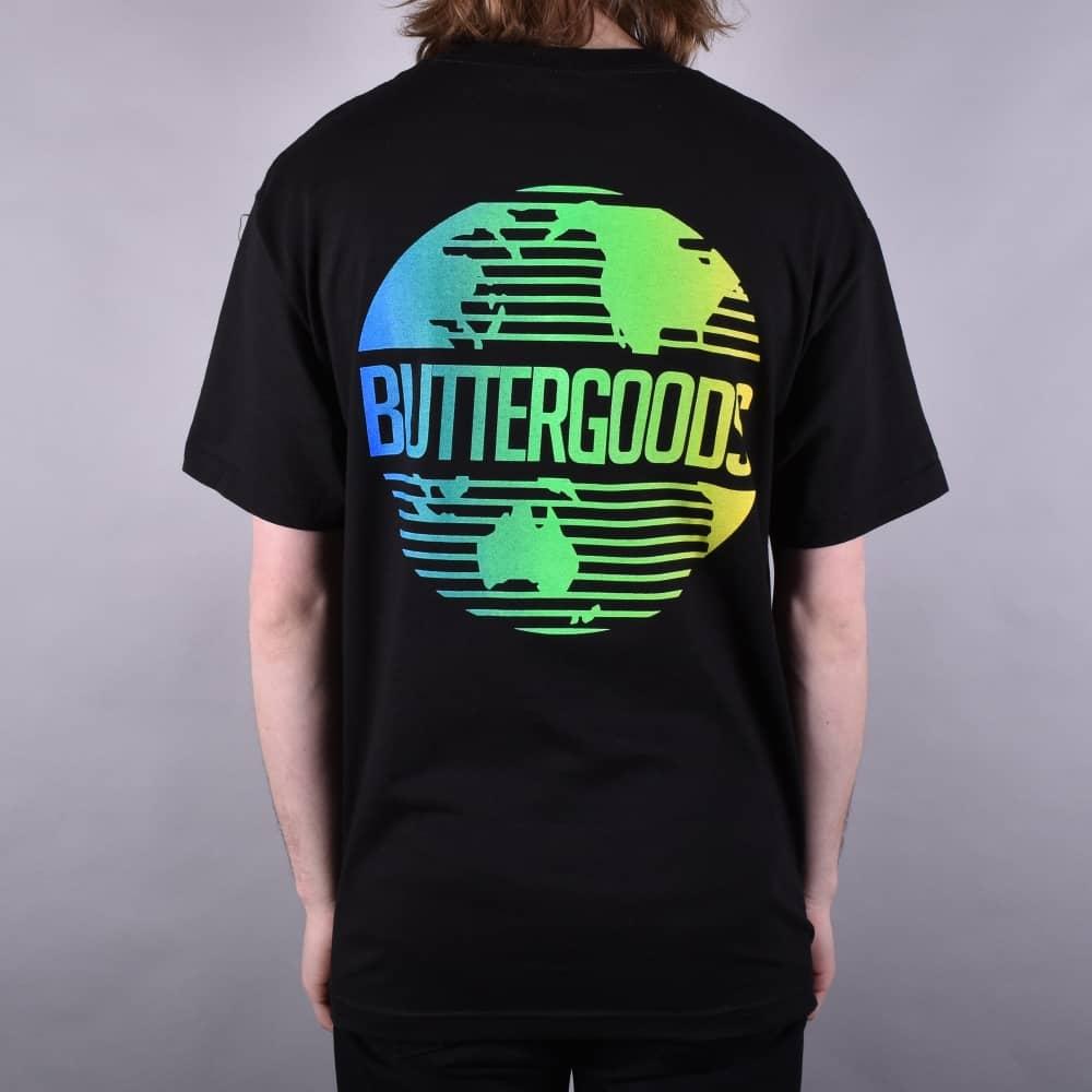 f9914202 Butter Goods Gradient Worldwide T-Shirt - Black - SKATE CLOTHING ...