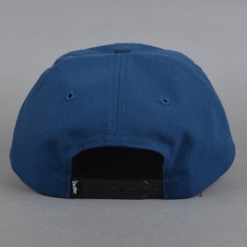 7aea1b5e872 Butter Goods Jazz Snapback Cap - Navy - SKATE CLOTHING from Native ...