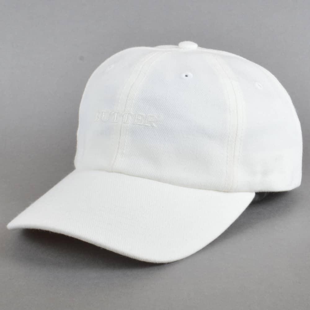 73f6c158895 Butter Goods Milan Tonal 6 Panel Cap - White - SKATE CLOTHING from ...