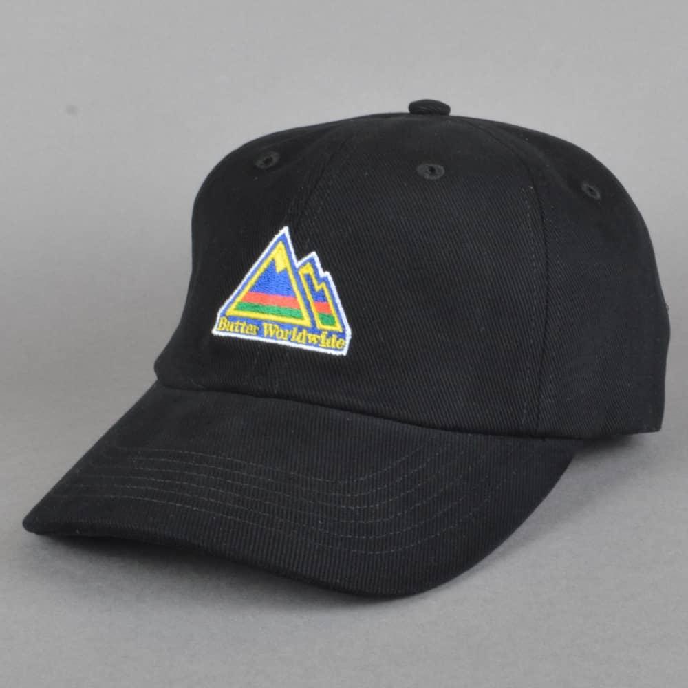 Butter Goods Mountain Dad Cap - Black - SKATE CLOTHING from Native ... 1e5341e8f6e